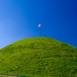 Flag on the peak mound - Zdjcie stockowe
