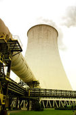 Cooling tower of nuclear power plant — Stock Photo