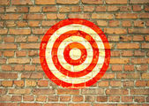 Target painted on the wall — Stock Photo