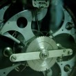 Stockfoto: Gear mechanism closeup, cogs, racks