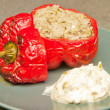 Stock Photo: Stuffed pepper for a dinner