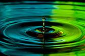 éclaboussure de l'eau goutte bouchent — Photo