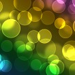 Color Bokeh against a dark background for use at graphic design — Stock Photo