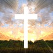 Cross with light shafts. Faith symbol. — Stock Photo #27607843