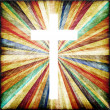 Cross with light shafts. Faith symbol. — Stock Photo #27609217