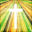 Cross with light shafts. Faith symbol. — Stock Photo #27609257