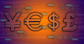 World currency exchange rates. — Stock Photo