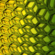 Stock Photo: Recurrent curved hexagonal wallpaper, background.