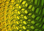 Recurrent curved hexagonal wallpaper, background. — Stock Photo