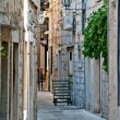 图库照片: Street in small town in Croatia