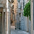 Street in the small town in Croatia — Stock Photo