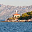 View on lighthouse on makarska riviera, Croatia. — Stock Photo