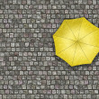 Man standing under an umbrella waiting for the change of weather — Stock Photo