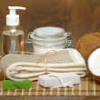 Set for spa with natural ingredients. body Massage — Stock Photo #38155735