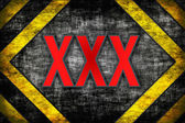 Hazard background. warning lines, black and yellow. — Stock Photo