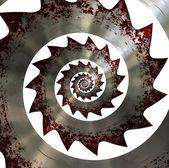 ¡ la hoja de sierra. patrón en espiral. — Foto de Stock