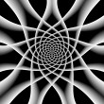 Twirl black and white background. — Stock Photo