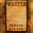 Wanted poster on old paper. — Stock Photo #43436579