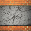 Brick and plaster wall. — Stock Photo