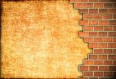 Brick and plaster wall. — Stock Photo