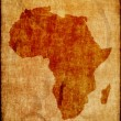 Africa map on old paper — Stock Photo #43440431