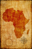 Africa map on parchment  — Foto de Stock