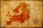 Old europe map on parchmment — Stock Photo