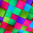3d colored cubes background, colorful mosaic — Stock Photo #46489117