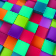 3d colored cubes background, colorful mosaic — Stock Photo #46489123