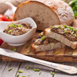 Traditional rye bread with pate. — Stock Photo #46489387