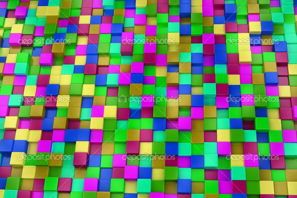 Fondo 3d cubos de colores colorido mosaico foto de stock 46489019 depositphotos - Mosaico de colores ...