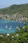 Tropical turquoise waters of Bequia Harbour, Caribbean — Stock Photo