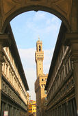 Palazzo Vecchio (Old Palace), which is the town hall of Florence, Italy — Stock Photo