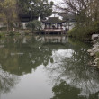 Reflections on the canals in the Humble Administor's Gardens, Suzhou, China — Stock Photo