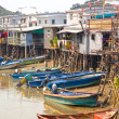 Stock Photo: Traditional homes on stilts at Tai O Fishing Village, Lantau Island, Hong Kong, China.