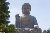 Tian Tan Big Buddha on Lantau Island, Hong Kong, China. — Stock Photo