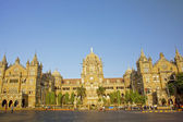 The Chhatrapati Shivaji Terminus which was formally know as Victoria Terminus, Mumbai, India. — Foto de Stock