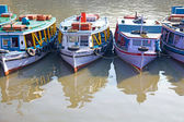 Traditional boats moored near the Gateway to India, Mumbai, India. — Stock fotografie