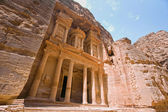 The Treasury (Al Khazneh), Petra, Jordan. — Stockfoto