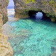 Natural arch over one of Limu pools, Niue Island, South Pacific. — Stock Photo #37902737