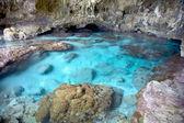 Sea water pool inside Avaiki Cave, Niue Island, South Pacific. — Stock Photo