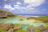 View over Limu Pools towards the ocean, Niue Island, South Pacific. — Stock Photo