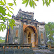 Stock Photo: One of buildings from Tu Duc Tomb, Hue, Vietnam, South East Asia.
