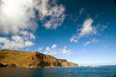 Coastline of St Helena from James Bay outside Jamestown, St Helena. — Stock Photo