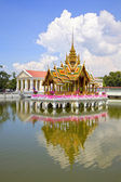 Aisawan Dhiphya-Asana Pavilion at the Bang Pa-In Palace which is also know as the Summer Palace, Thailand, South East Asia. — Stock Photo