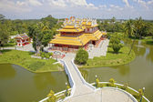 Wehart Chamrunt or Heavenly Light at the Bang Pa-In Palace which is also know as the Summer Palace, Thailand, South East Asia. — Stock Photo