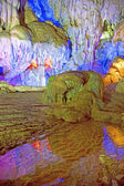 Inside the colourful grotto at the Sung Sot caves on Bo Hon Island, Vietnam, South East Asia. — Stock Photo