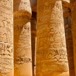 Stock Photo: Columns covered in hieroglyphics, Karnak, Egypt.