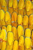 Yellow sandles for sale, Morocco. — Stock Photo