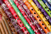 Group of South American colourful pipes, Peru. — Stock Photo
